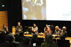 Podiumsdiskussion zum Thema Flüchtlingspolitik im Otto-Borst-Saal